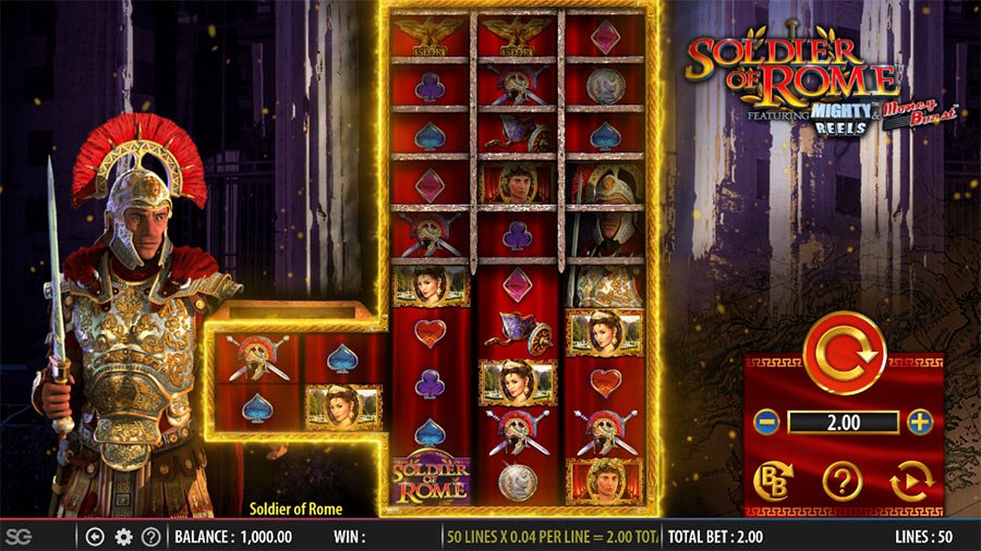 Soldier of Rome (Barcrest) Slot Review - Bigwinboard com