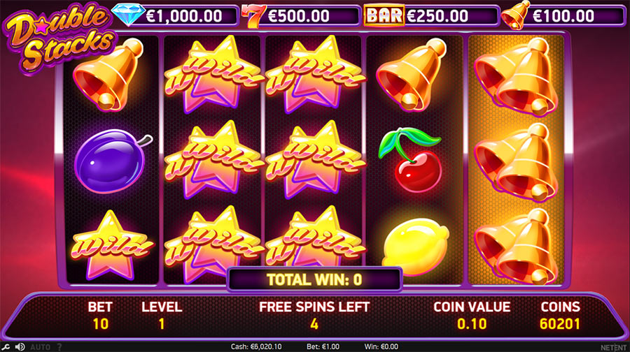 double stacks free spins