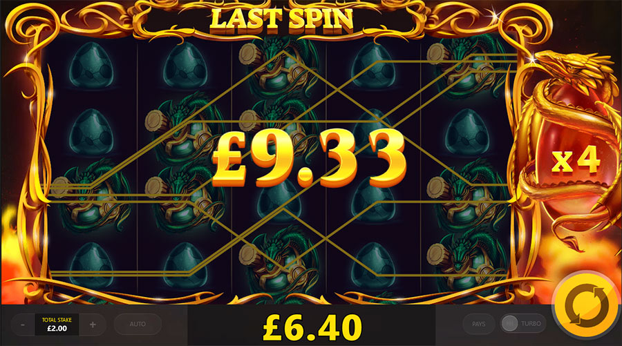 dragons fire free spins