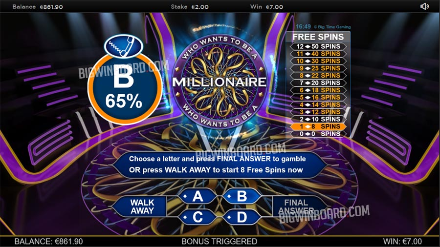 millionaire big time gaming