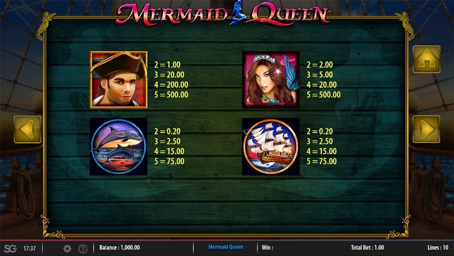 mermaid queen sg gaming