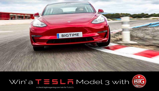 Play Big Time Gaming Slots – Win a Tesla Model 3