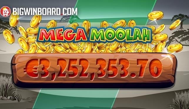 Lucky Punter Scoops Over €3 million on Mega Moolah