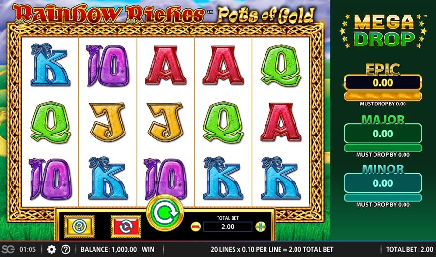 rainbow riches pots of gold