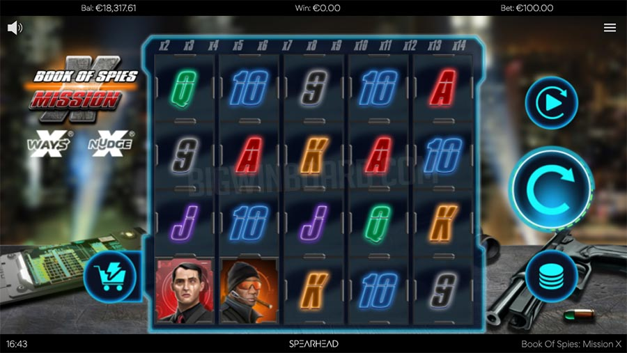 book of spies mission x slot