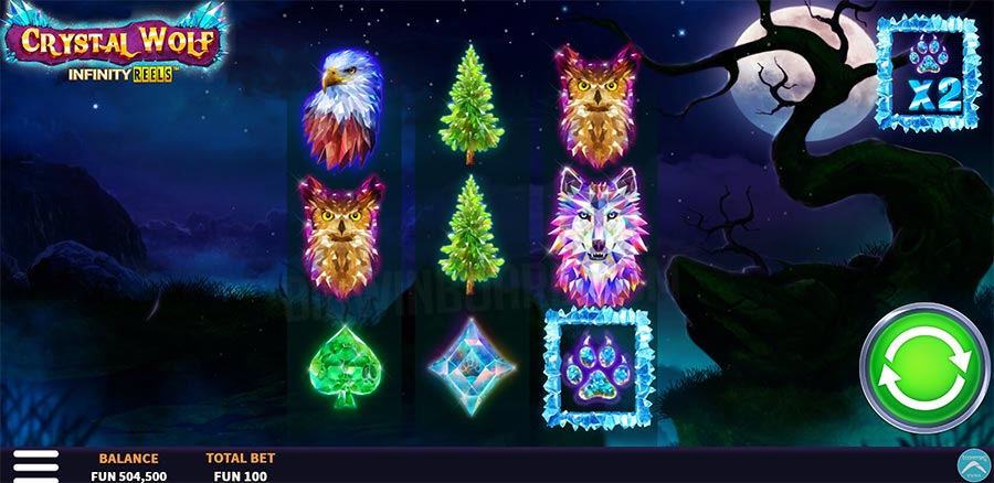 crystal wolf infinity reels slot