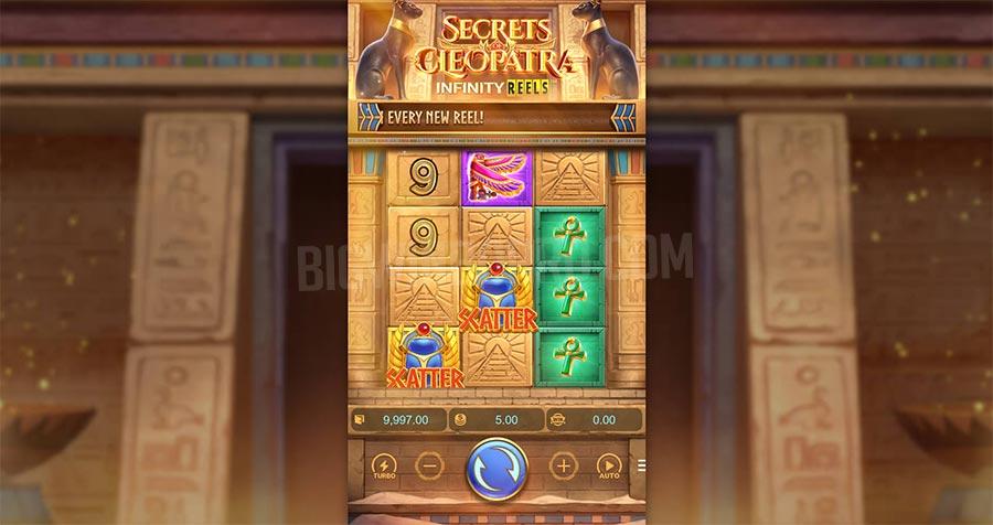 secrets of cleopatra infinity reels slot