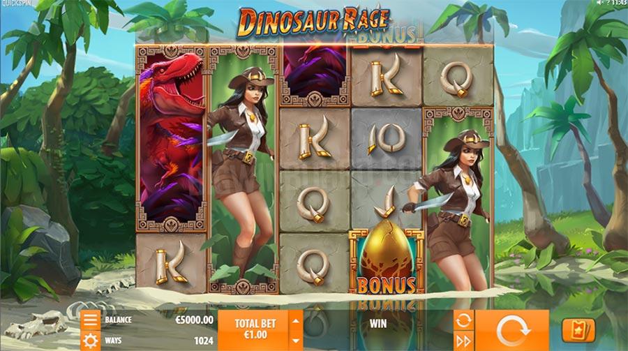 dinosaur rage quickspin slot
