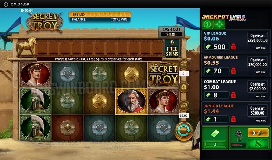 secret of troy slot