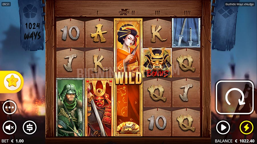 Bushido Ways xNudge slot