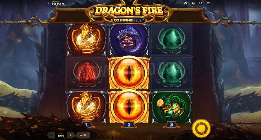 dragons fire infinireels slot