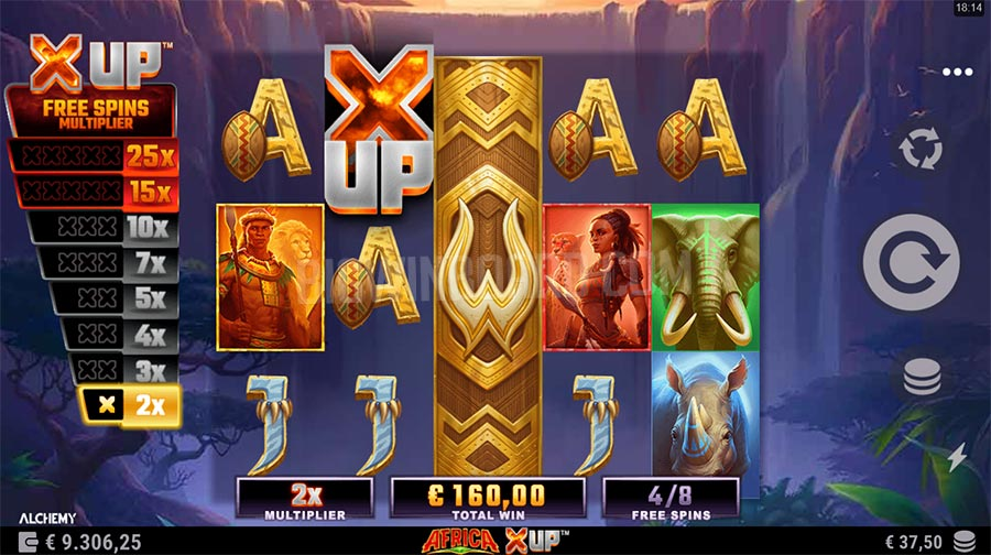 Africa X UP slot