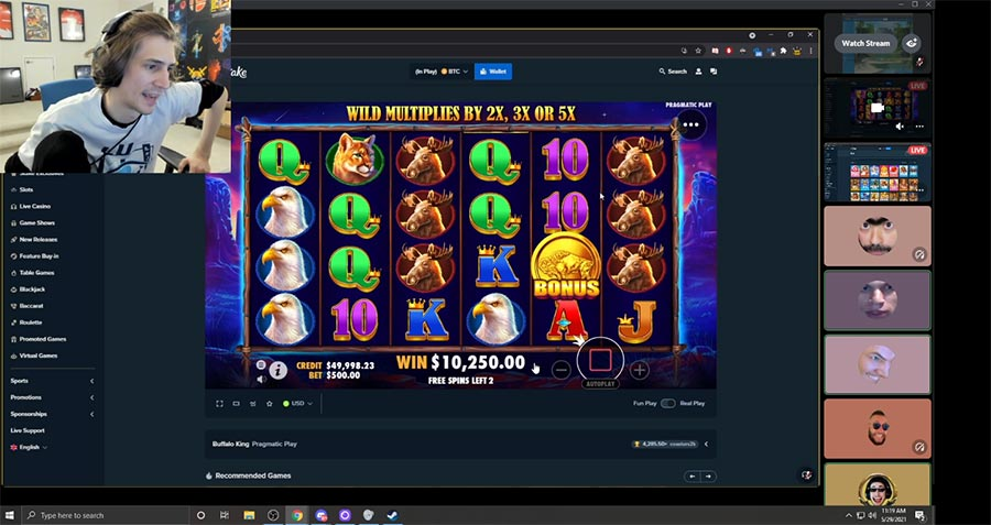 xqc gambling