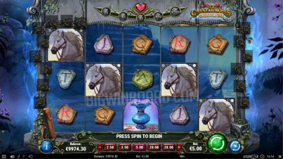 15 Crystal Roses A Tale of Love slot