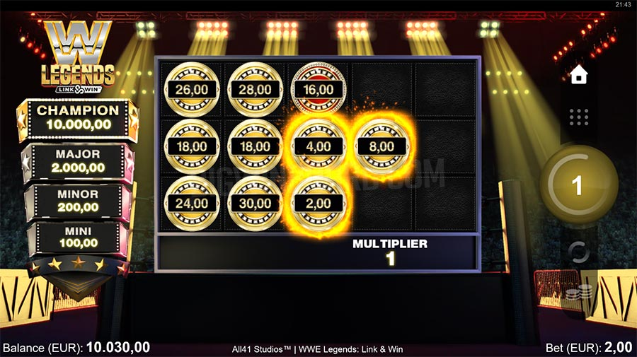 WWE Legends Link & Win slot