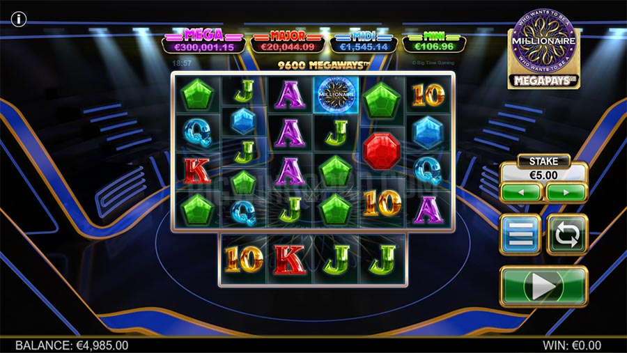 Who Wants To Be A Millionaire Megapays slot