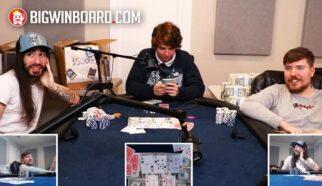 mrbeast vs penguinz0 poker